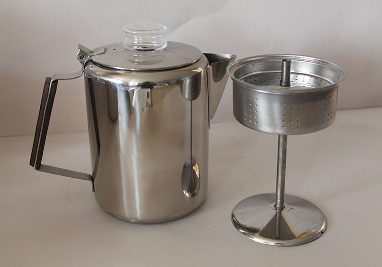 Old Fashioned Stove Top Coffee Percolator Stainless 9 Or