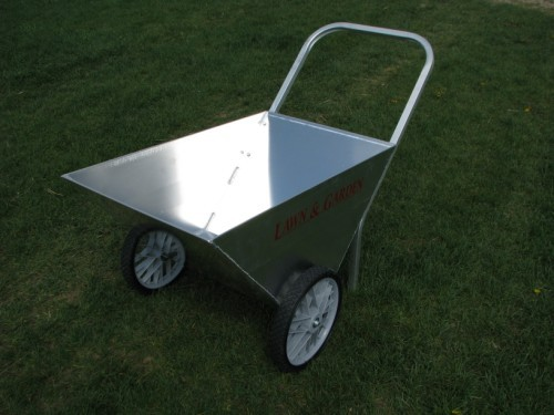 Vintage Two Wheel Metal Lawn And Garden Cart