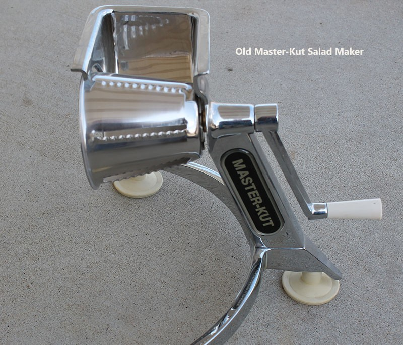 Hand Crank Salad Maker Old Fashioned Heavy Duty Stainless