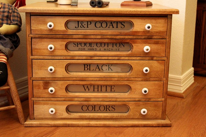 Electric Companies In Texas >> J&P Coats Reproduction Thread Spool Cabinet Kit - Amish Furniture - Amish Handcrafted Products ...
