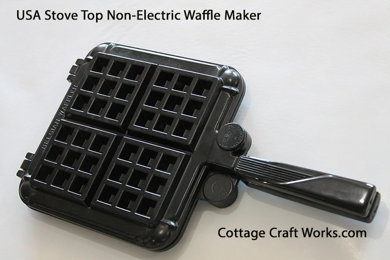 Non Electric Stove Top Belgian Waffle Iron Cooking
