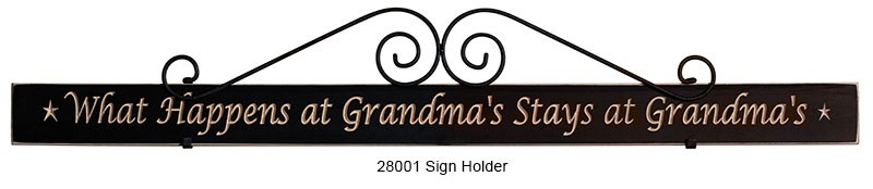 Wrought Iron Sign Holders Large Scroll