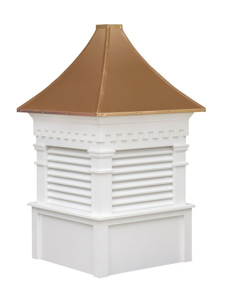 The Greenfield Louvered Cupola Copper Top Venting Cupola