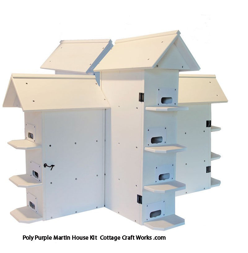 Poly lumber T 14 purple martin house kit
