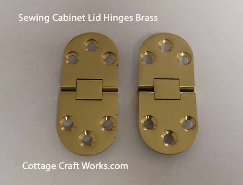 Solid Brass Sewing Cabinet Lid Hinges