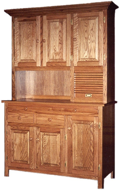 Amish Handcrafted Shaker Hoosier Kitchen Cabinet