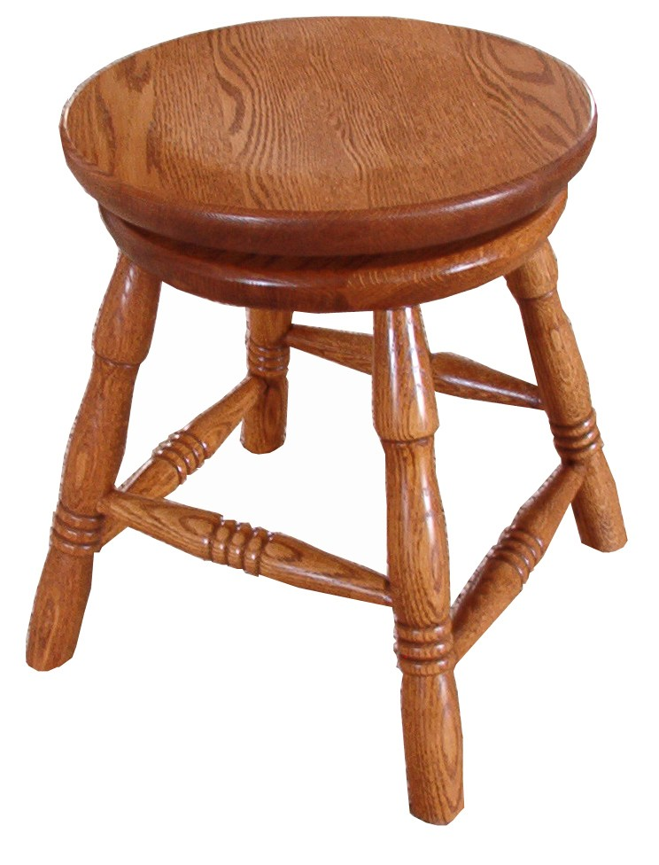 Reproduction Classic Round Swivel Top Piano Stool Usa Amish