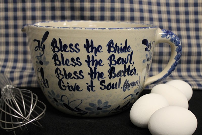 USA Pottery Old Fashioned Bridal Batter Bowls, 1/4 to 1 gal sizes