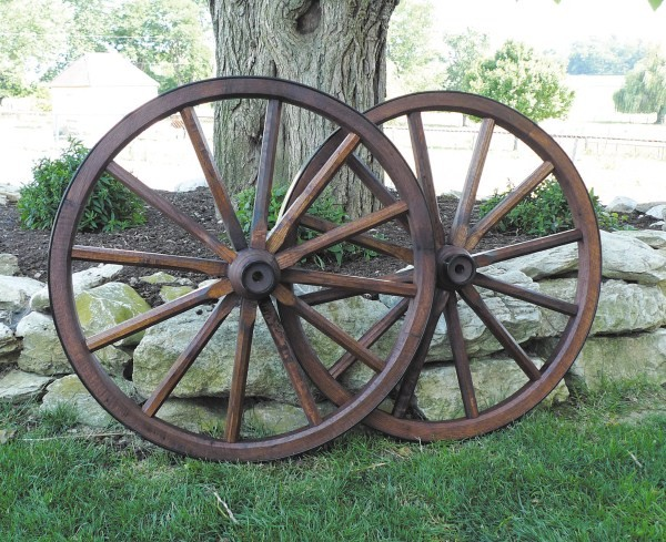 Small Wood Spoke Wagon Wheels 19 Inch