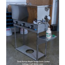 Hobby Farm Three Burner Gas Syrup Finisher in Mirror Finish