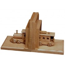 Oak Bookends Train