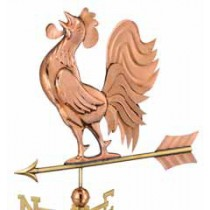 Crowing Rooster Copper Weathervane