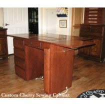 Sewing Machine Cabinet | Executive Desk Style | Finished Back