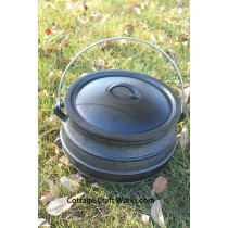 Flat Bottom #2 Cast Iron Kettle-7 Qt