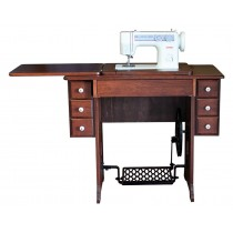 Amish Treadle Cherry Cabinet | Janome 712T
