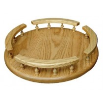 Lazy Susan Oak Table Top Organizer Oak
