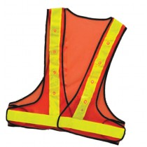 LED Orange Safety Vest | Construction | Law | Bicyclist | Jog