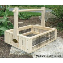 A handcrafted garden basket with class