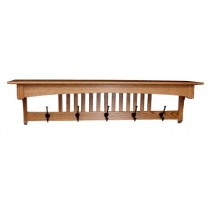 Mission Oak Wall Shelf & Coat Rack