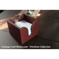 Primitive Painted Red Napkin Holder