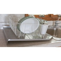 Stainless Steel Kitchen Sink Open Back Drain Board