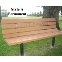 Park Bench-Heavy Duty-Vandal-Weather-UV-Resistant-Commercial