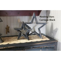 Primitive Country Decor Nesting Stars