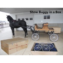 Horse Show Buggy | In a Box | Collapsible With Travel Crate
