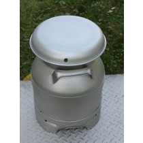 USA Stainless Milk Cans | Three Gallon | Drain Spout