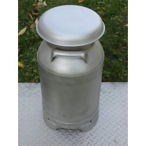 USA Stainless Milk Cans | Five Gallon | Drain Spout