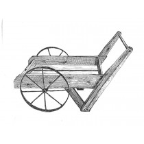 Wooden Peddler Cart Plans & Hardware Standard 8 Spoke Wheels