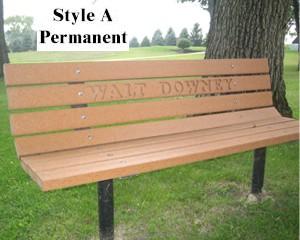 Park Bench Economical Uv Vandal Resistant Commercial Duty