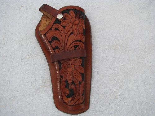 38 Colt Smith And Wesson 6 Inch Barrel Leather Holster