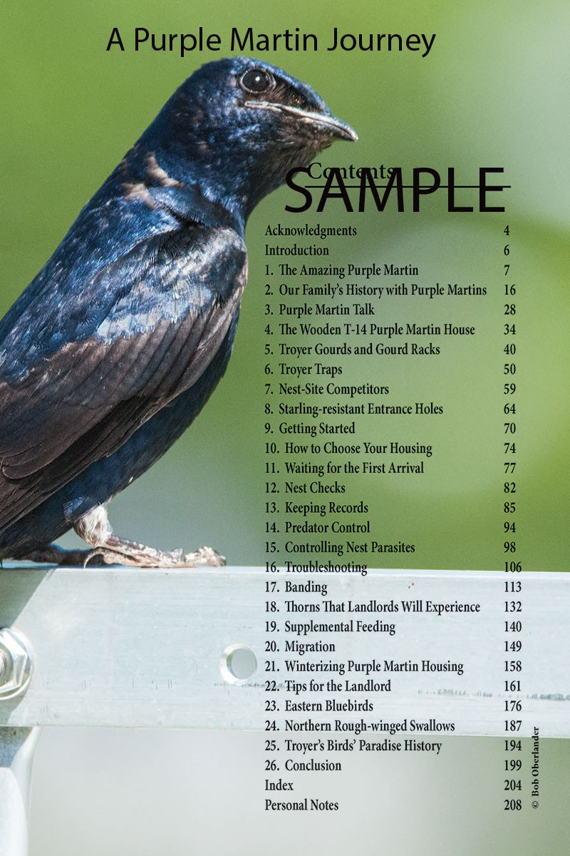 Attracting And Caring For Purple Martins Andrew M Troyer