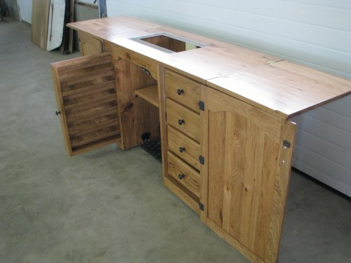 Heirloom Classic Solid Wood Sewing Cabinet Amish Crafted