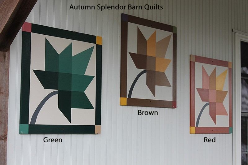 Amish Hand Painted Autumn Leaf Splendor Barn Quilt