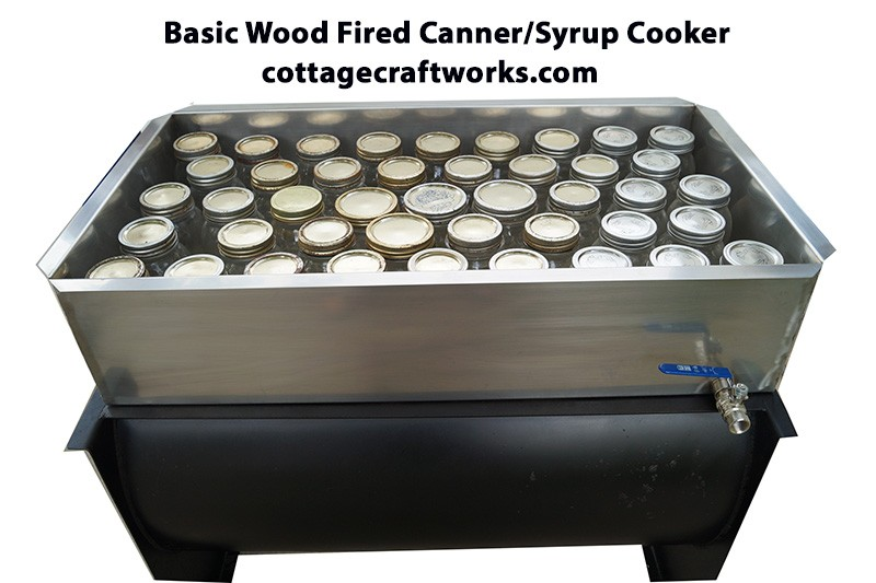 Hobby Wood Fired Economy Maple Syrup Cooker Evaporator