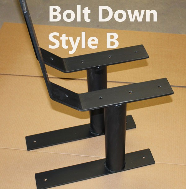 Heavy Duty Commercial Style Park Bench Metal Post