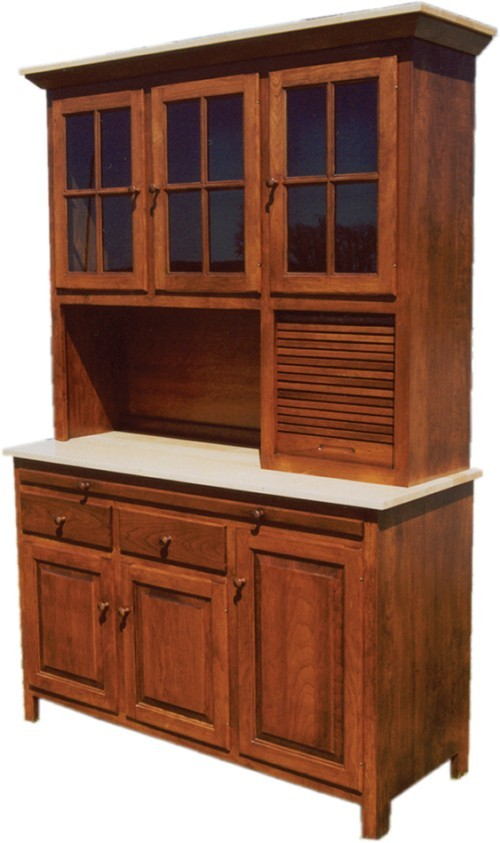 Hoosier Kitchen Cabinet Amish Handcrafted Brookline Cabinet