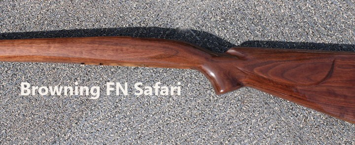 Replacement Walnut Gun Stock Browning Fn Safari Rifle