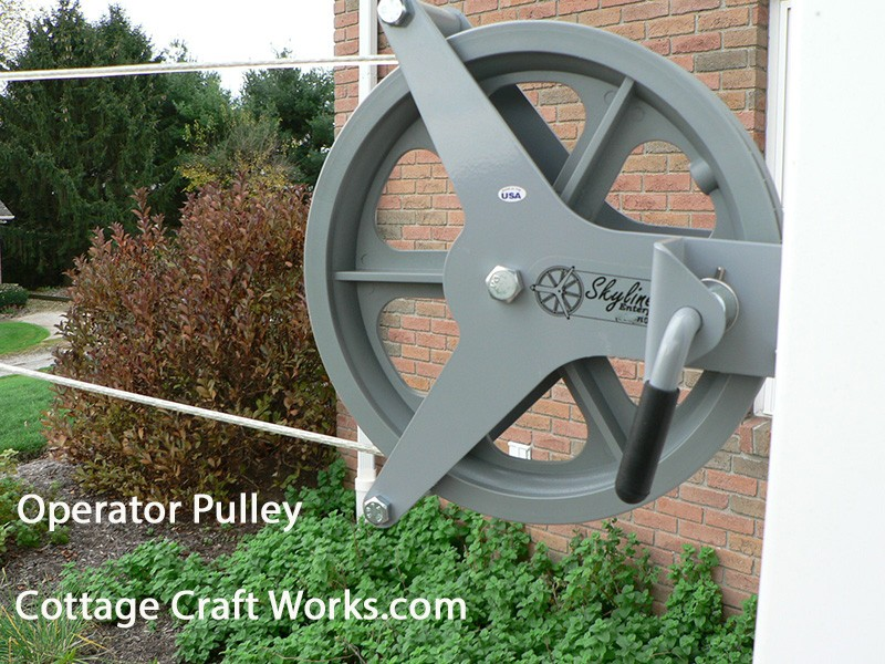 Amish Style Cable Pulley Clothesline Wash Line Pulley Kit