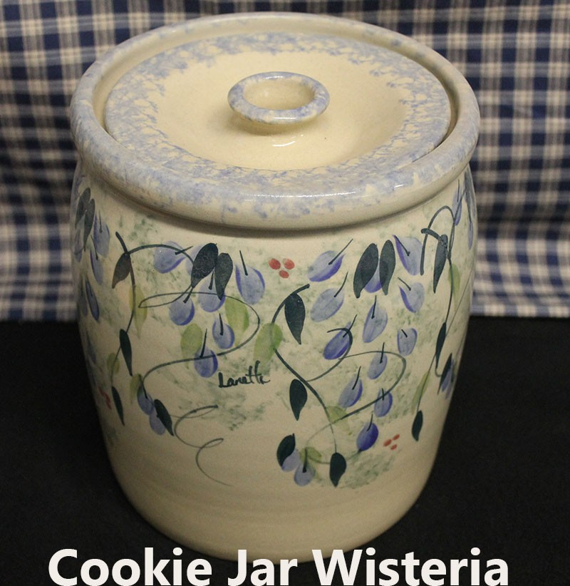 Usa Made Old Fashioned Cookie Jar Blue Stripe Custom Colors