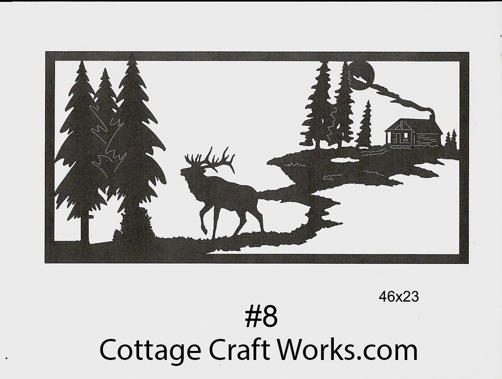 Western Wildlife Large Metal Silhouette Architectural Decor