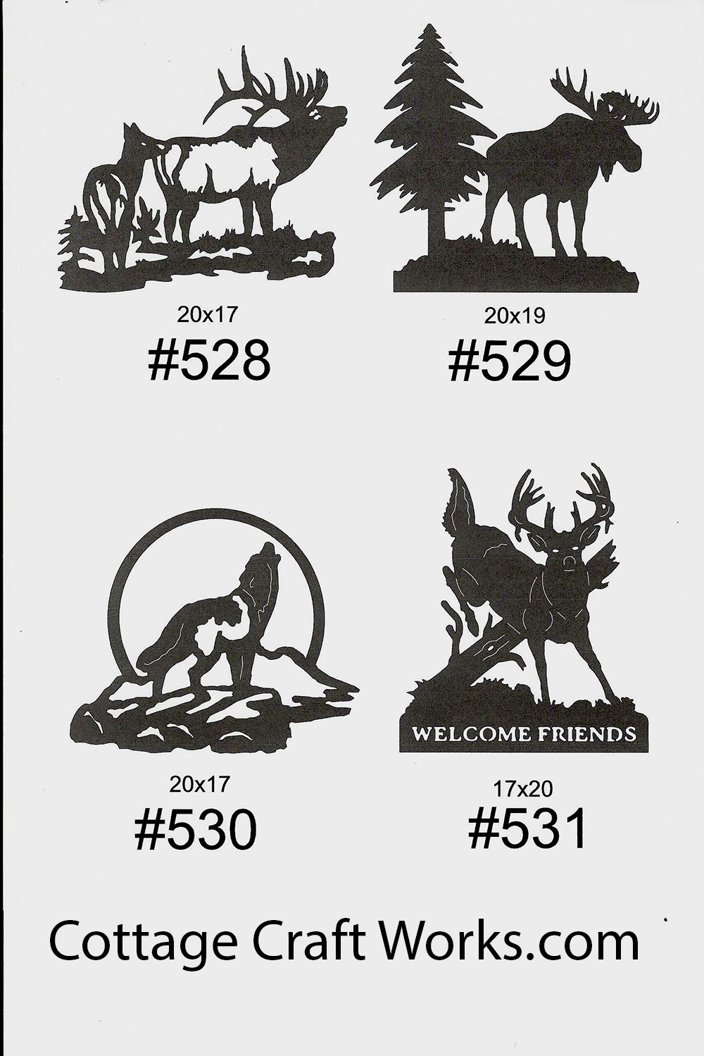 Metal Silhouettes Of Wildlife Hunter Decor Gifts