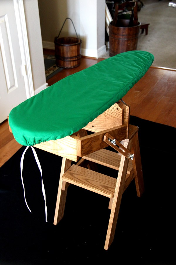 Bachelor Jefferson Folding Ironing Board Step Stool Chair