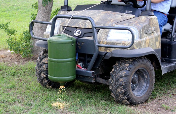 Atv Gravity Feeder Lays Only A Ribbon Of Deer Corn