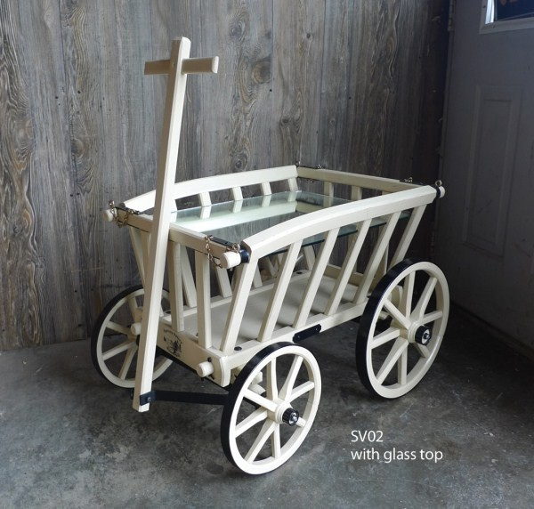 Amish Reproduction Goat Wagon Goat Cart Pumpkin Wagon