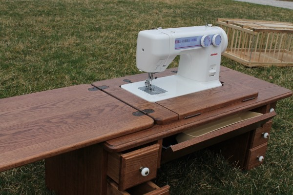 Amish Furniture-Treadle Sewing Machine Cabinet - Sewing Cabinets ...