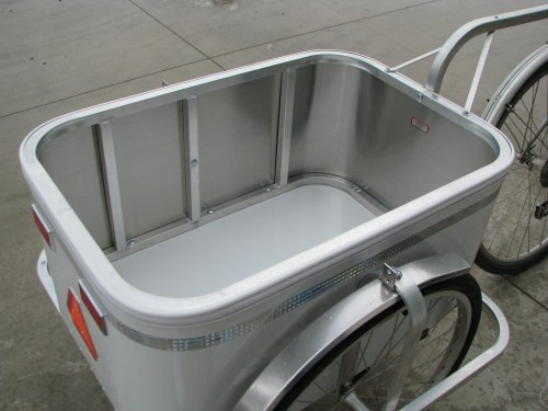 Bicycle Cargo Trailer All Aluminum Sides Seat Donut Hitch