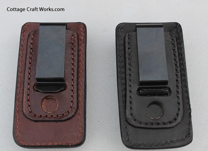 Leather Belt Clip Mag Pouch Holder For 1911 Style Clips